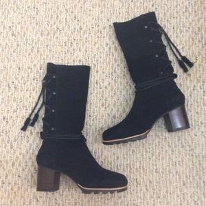 🆕 SOREL x Anthropologie black tassel tall boots